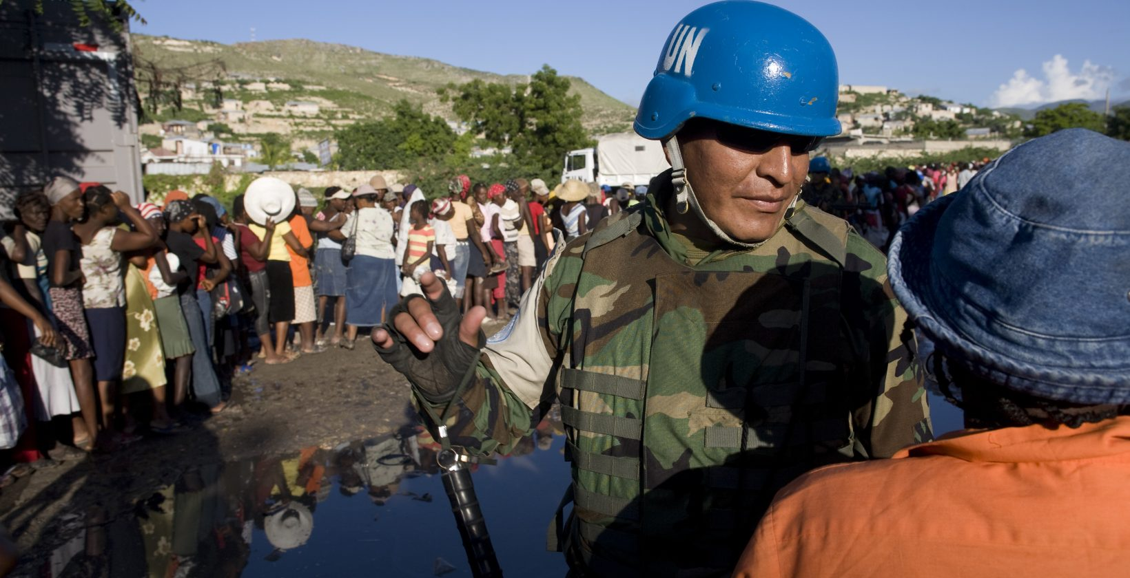 peacekeeper in Haiti